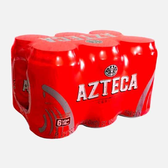 cerveza azteca lata 6 uds piragua full compra