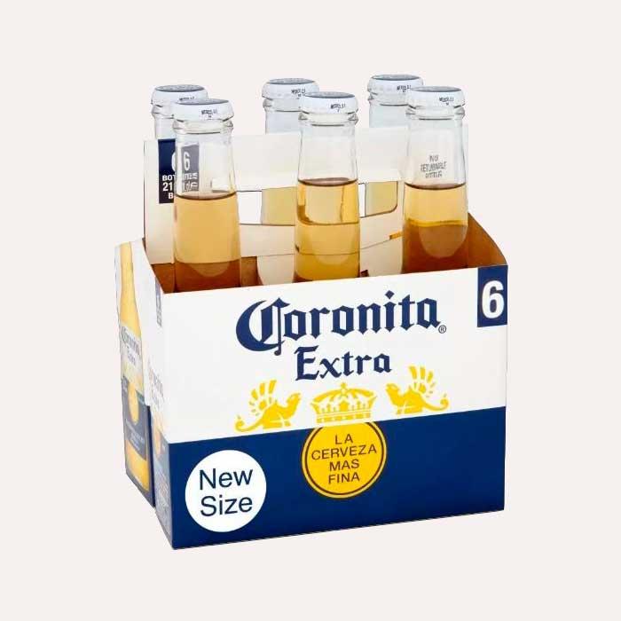 coronita extra six pack piragua