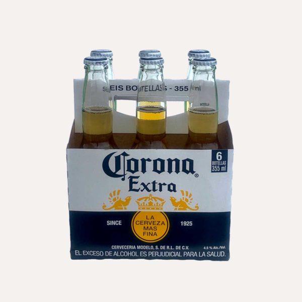 corona extra six pack piragua