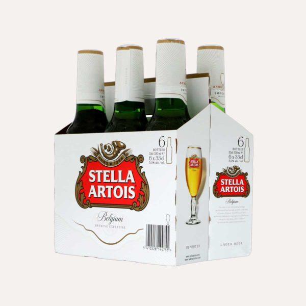 stella artois six pack piragua