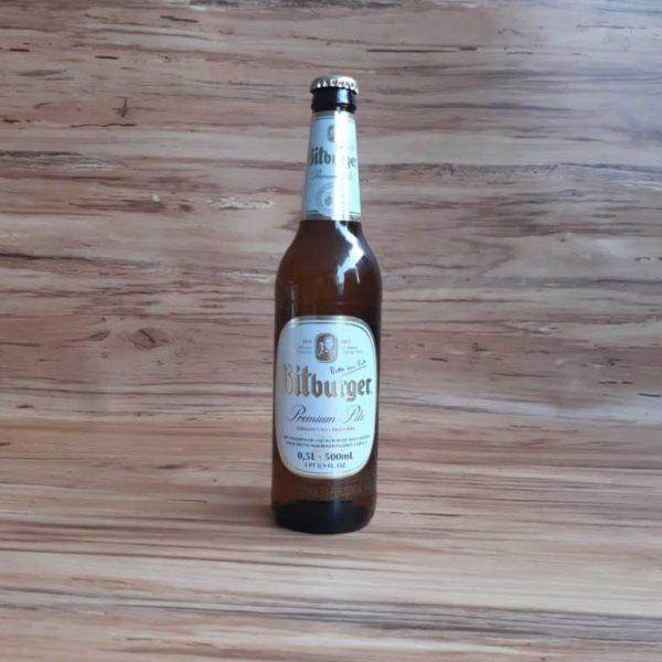 Cerveza Importada Bitburger Premium Pils x 500 piragua full compra