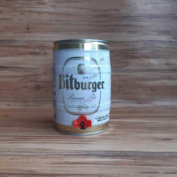 Cerveza Importada Bitburger Premium Pils Barril 5 piragua full compra