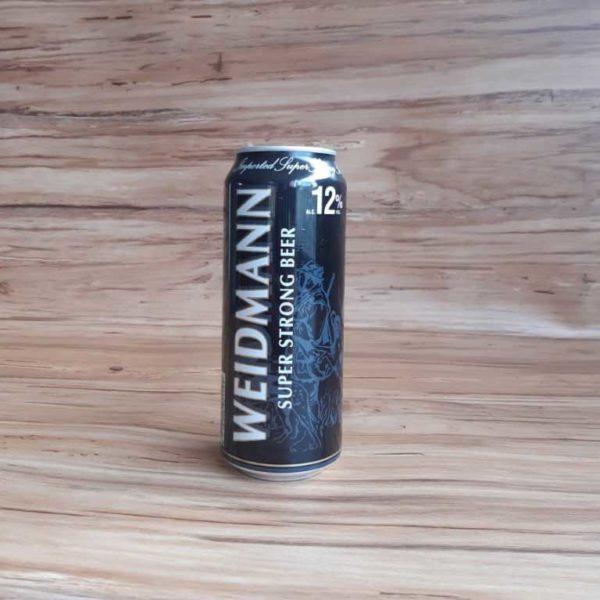 cerveza importada weidmann 12% super strong lata 500 piragua full compra