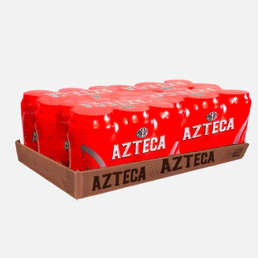 cerveza azteca lata 24 piragua full compra