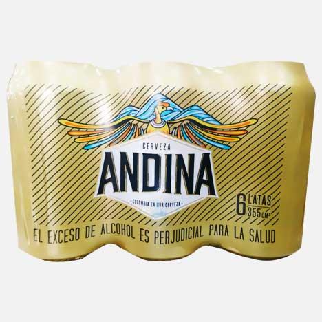 cerveza andina six pack piragua full compra