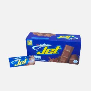 Chocolatina Jet Leche 12 g - Display 50 uds piragua full compra