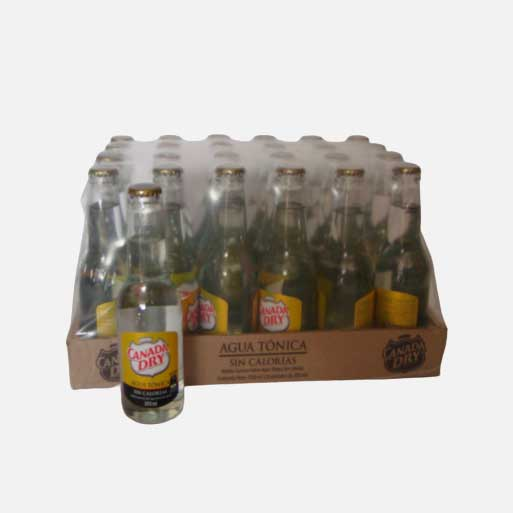 agua tonica canada dry cero 300ml x24 piragua full compra