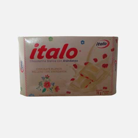 chocolatina italo blanca con arandanos x 70 piragua full compra