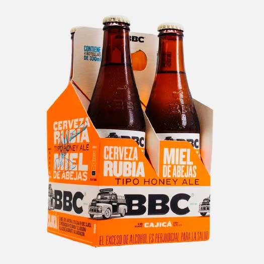 Cerveza BBC Cajica Miel 330 ml x 4 uds piragua full compra