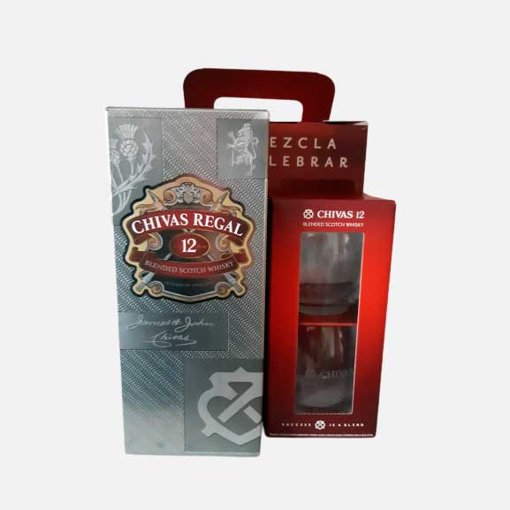 Whisky Chivas 12 Years X 1000 Ml gratis 2 vasos piragua full compra