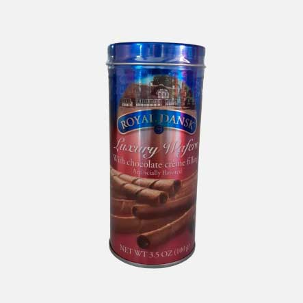 Galleta Barquillo Chocolate Royal Dansk Lata 100 g piragua full compra