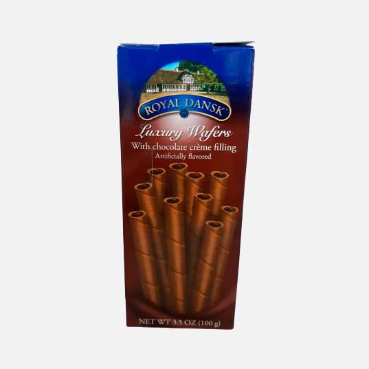 Galleta Barquillo chocolate Royal Dansk Caja X 100 gr piragua full compra