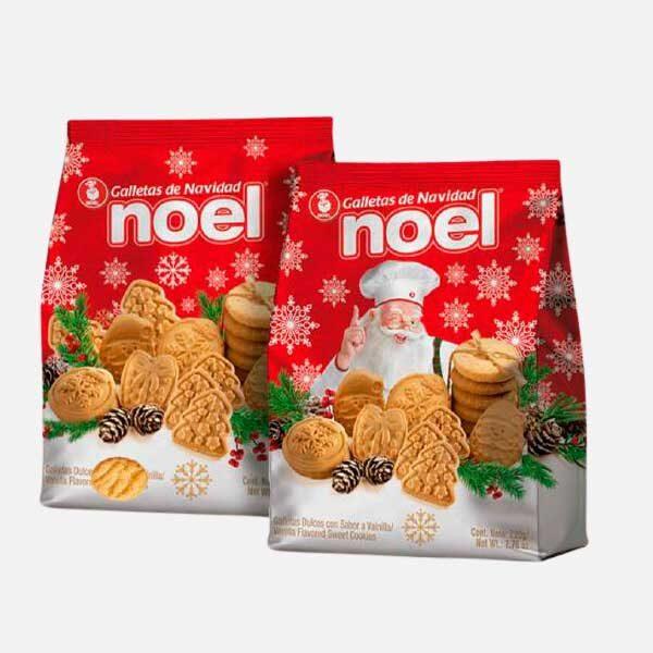 Galleta Navidad Noel bolsa 220g piragua full compra