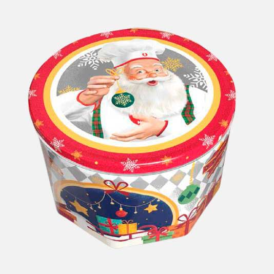 Galletas Navidad Noel Cofre Tambor 819g piragua full compra