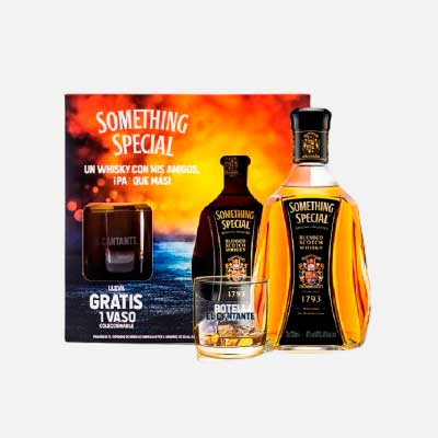 Whisky Something Special X 750 Ml gratis vaso piragua full compra