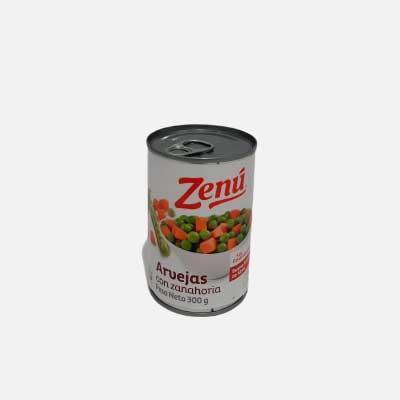 Arvejas con Zanahoria 300 g piragua full compra