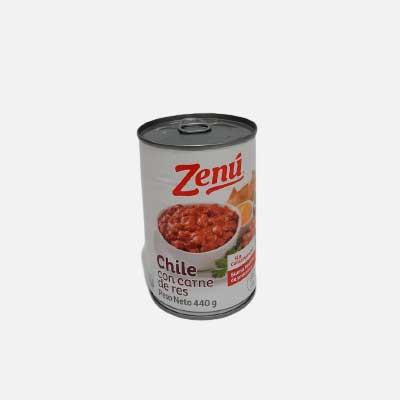 Chile con Carne de Res Zenú 440 g piragua full compra