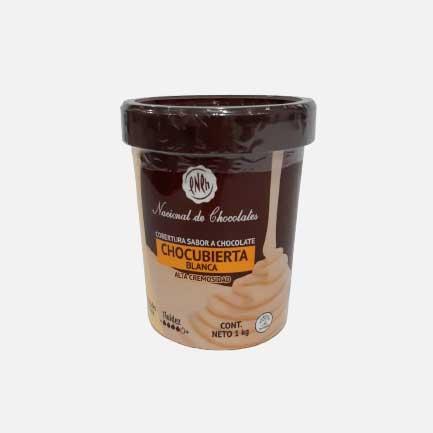 Choco cubierta Blanca Tarro 1 kg piragua full compra