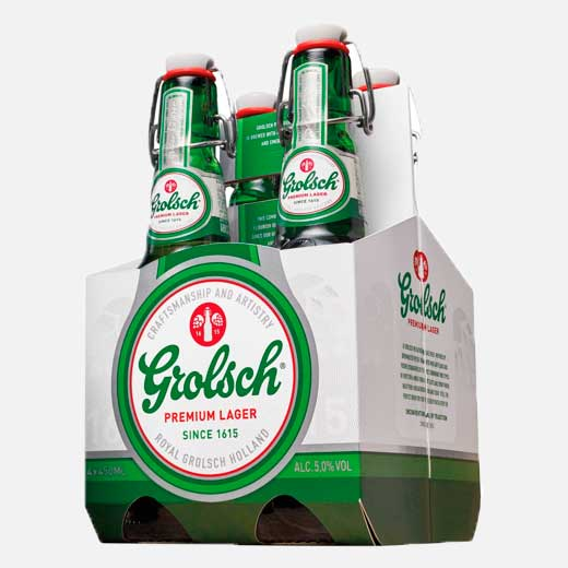 Cerveza Grolsch four pack 450 ml piragua full compra