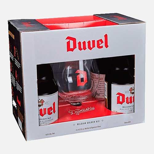 Estuche Duvel 4 Cervezas 330 ml + Copa piragua full compra