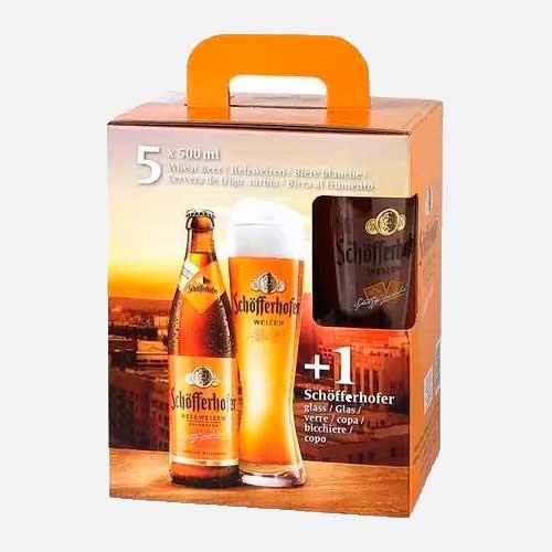 Pack cerveza Schoffwrhofer X 5 + Copa piragua full compra