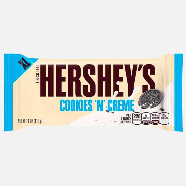 Chocolatina Hersheys Cookies and cream 113 g piragua full compra