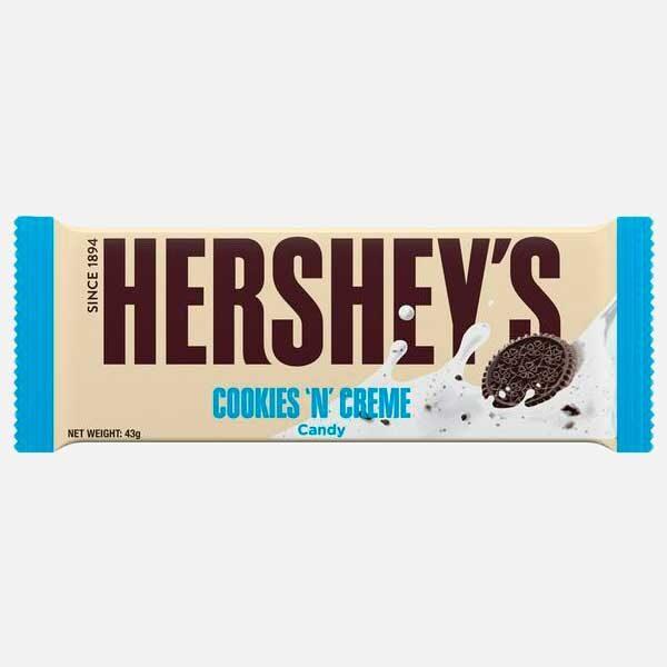 Chocolatina Hersheys Cookies and cream 43 g piragua full compra