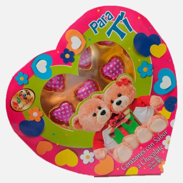 Estuche Corazón de corazones 80 g piragua full compra