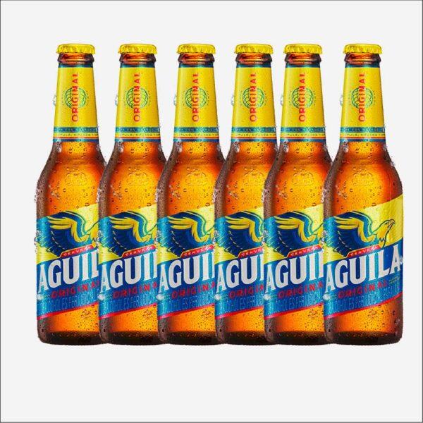 Cerveza Águila botella retornable 330 X 6 uds piragua full compra