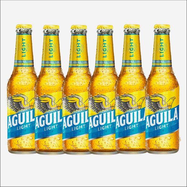 Cerveza Águila Ligth botella retornable 330 x6 uds piragua full compra