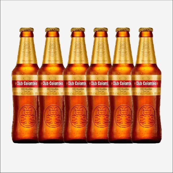Cerveza Club Colombia Dorada botella retornable 330 ml x6 uds piragua full compra