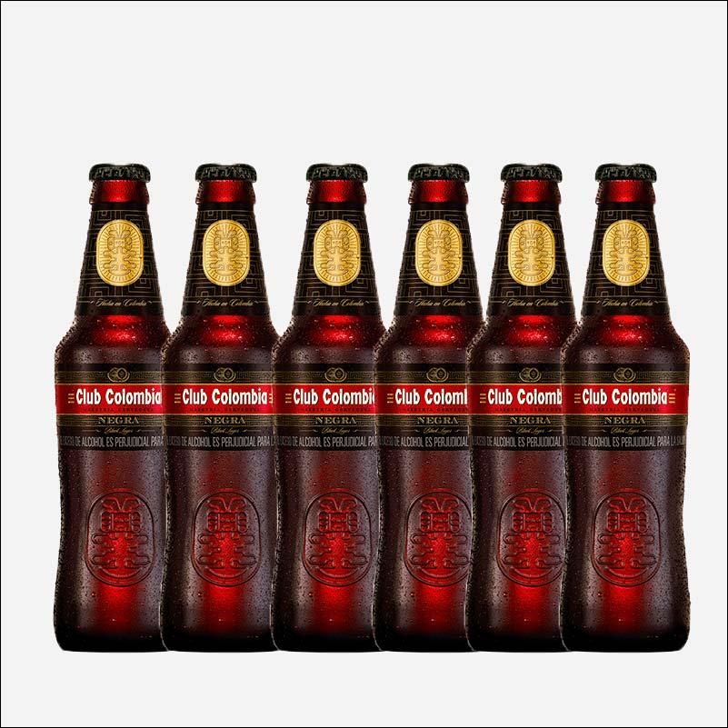 Cerveza Club Colombia Negra botella retornable 330 ml x6 uds piragua full compra