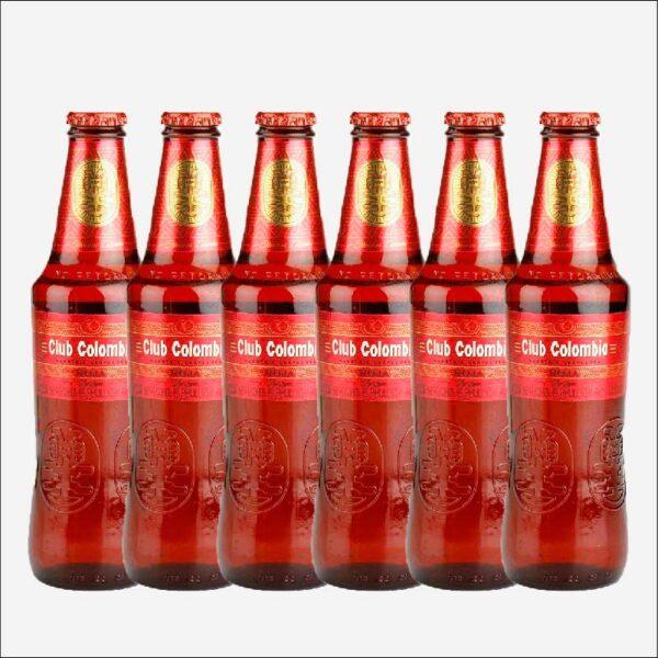 Cerveza Club Colombia Roja botella retornable 330 ml x6 uds piragua full compra