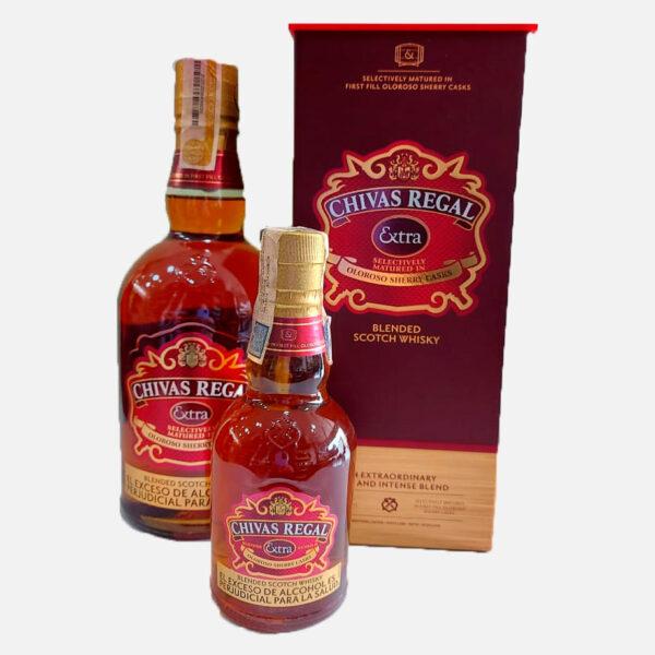 Whisky Chivas Extra x 700 ml gratis chivas extra x 200 ml piragua full compra