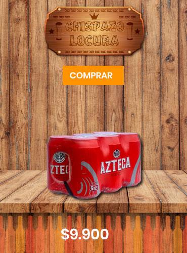 chispazo de locura cerveza azteca six pack piragua full compra